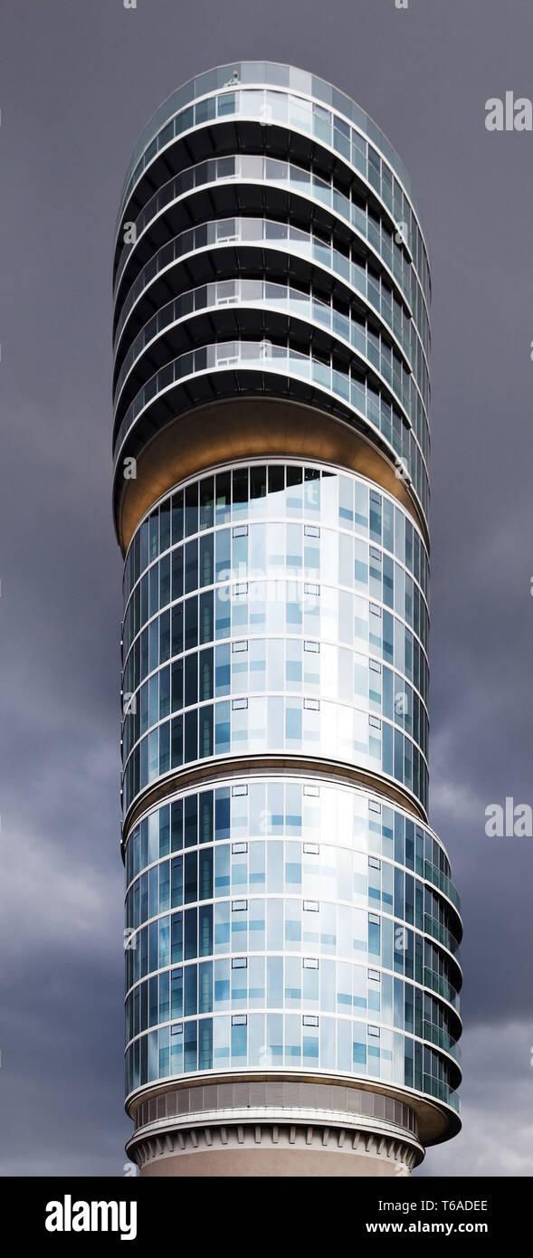 Denkmalgeschützte Office Tower Exenterhaus, Bochum, Ruhrgebiet, NRW, Deutschland, Europa Stockbild