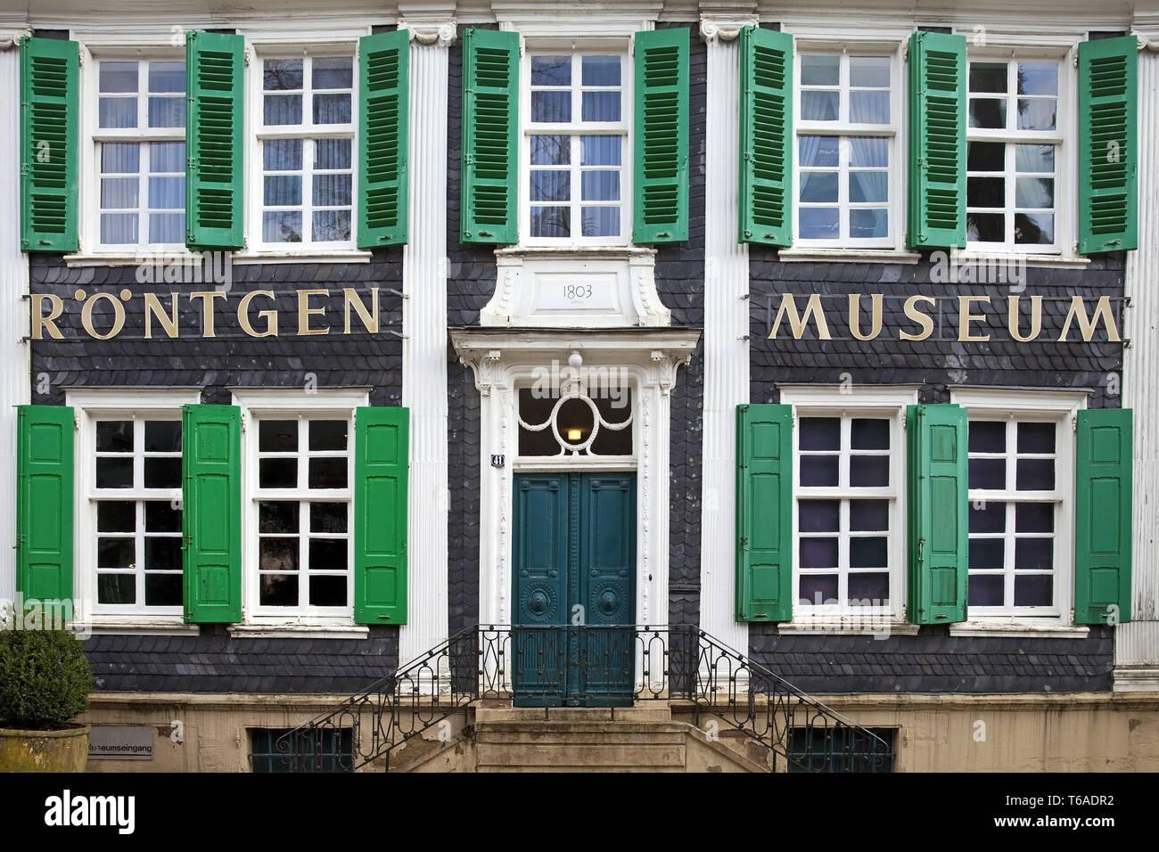 Deutschen Röntgen Museum, Remscheid, Bergisches Land, Nordrhein-Westfalen, Deutschland, Europa Stockfoto