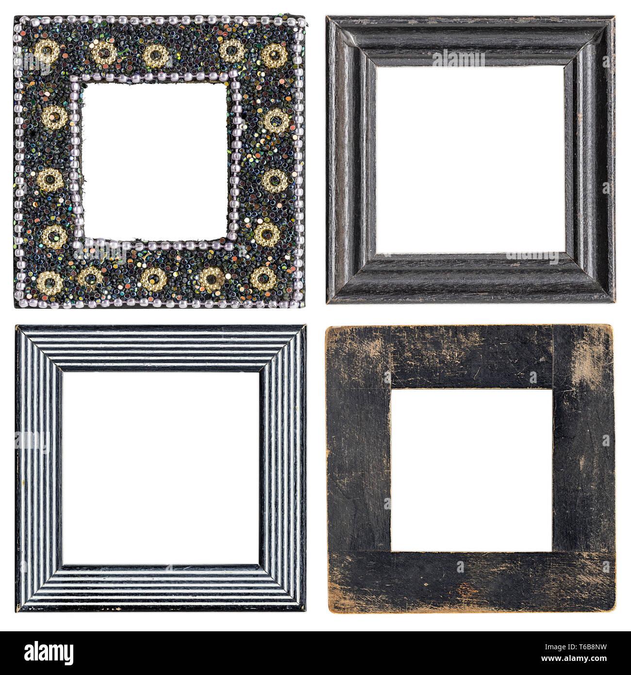 Satz von vier quadratischen Bilderrahmen Stockbild