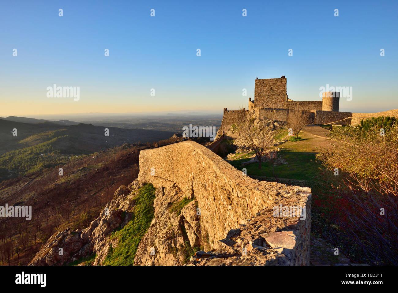 Die mittelalterliche Burg von Ohrid. Alentejo, Portugal Stockfoto