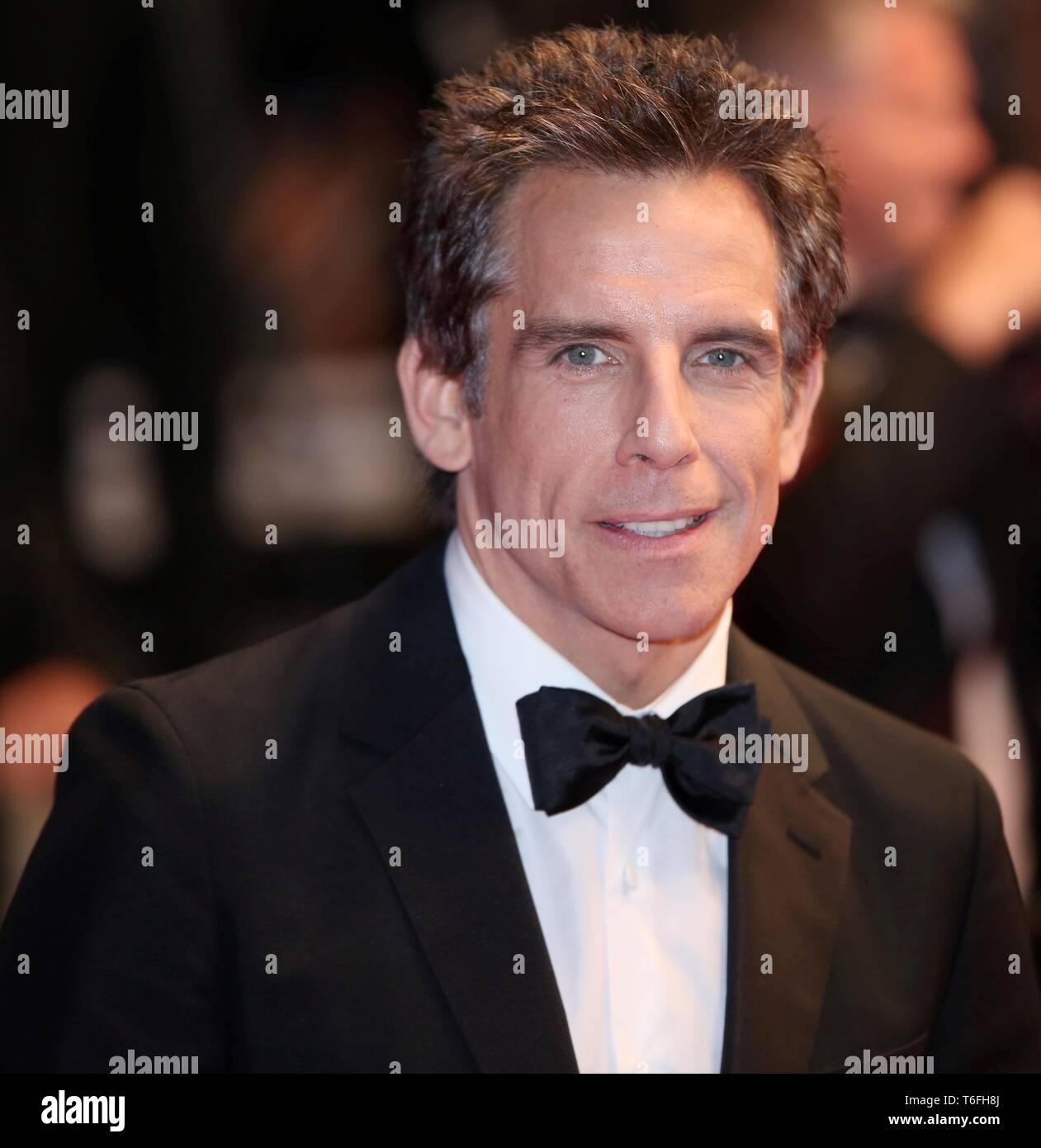 """CANNES, Frankreich - 21. MAI 2017: Ben Stiller besucht """"meyerowitz Geschichten """"Screening auf den 70. Filmfestspielen von Cannes (Foto: Mickael Chavet) Stockfoto"""