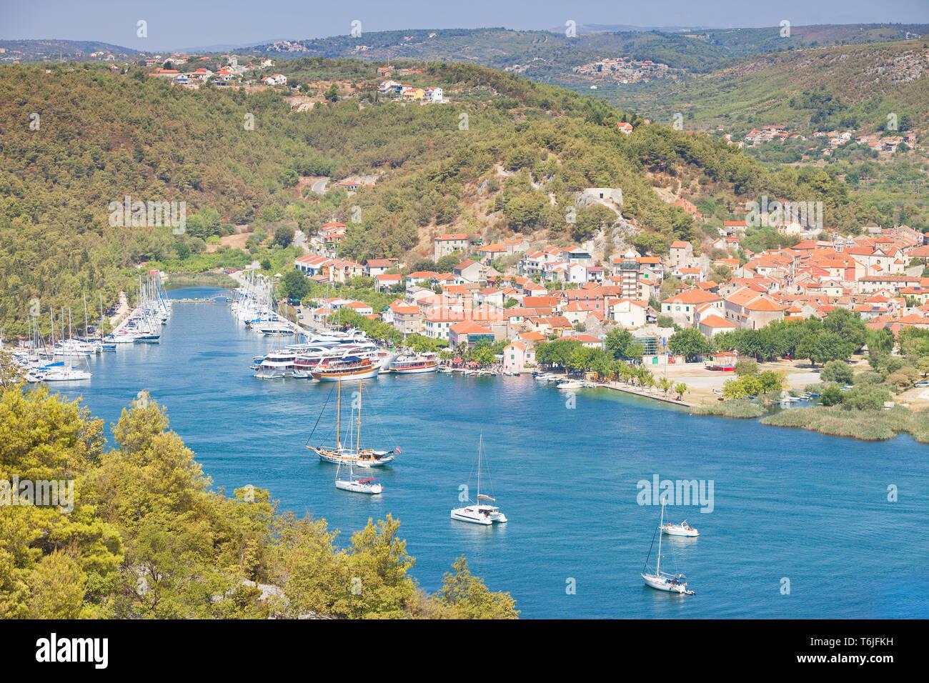Skradin, Kroatien, Europa - Besuch der Altstadt von Skradin Stockfoto