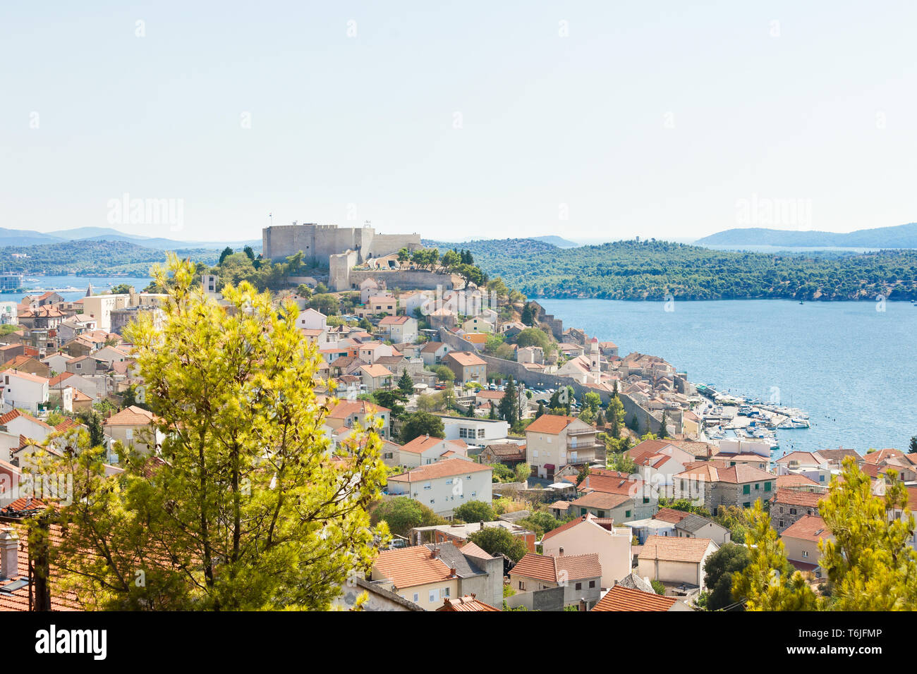Sibenik, Kroatien, Europa - Blick auf die Altstadt von Sibenik Stockfoto