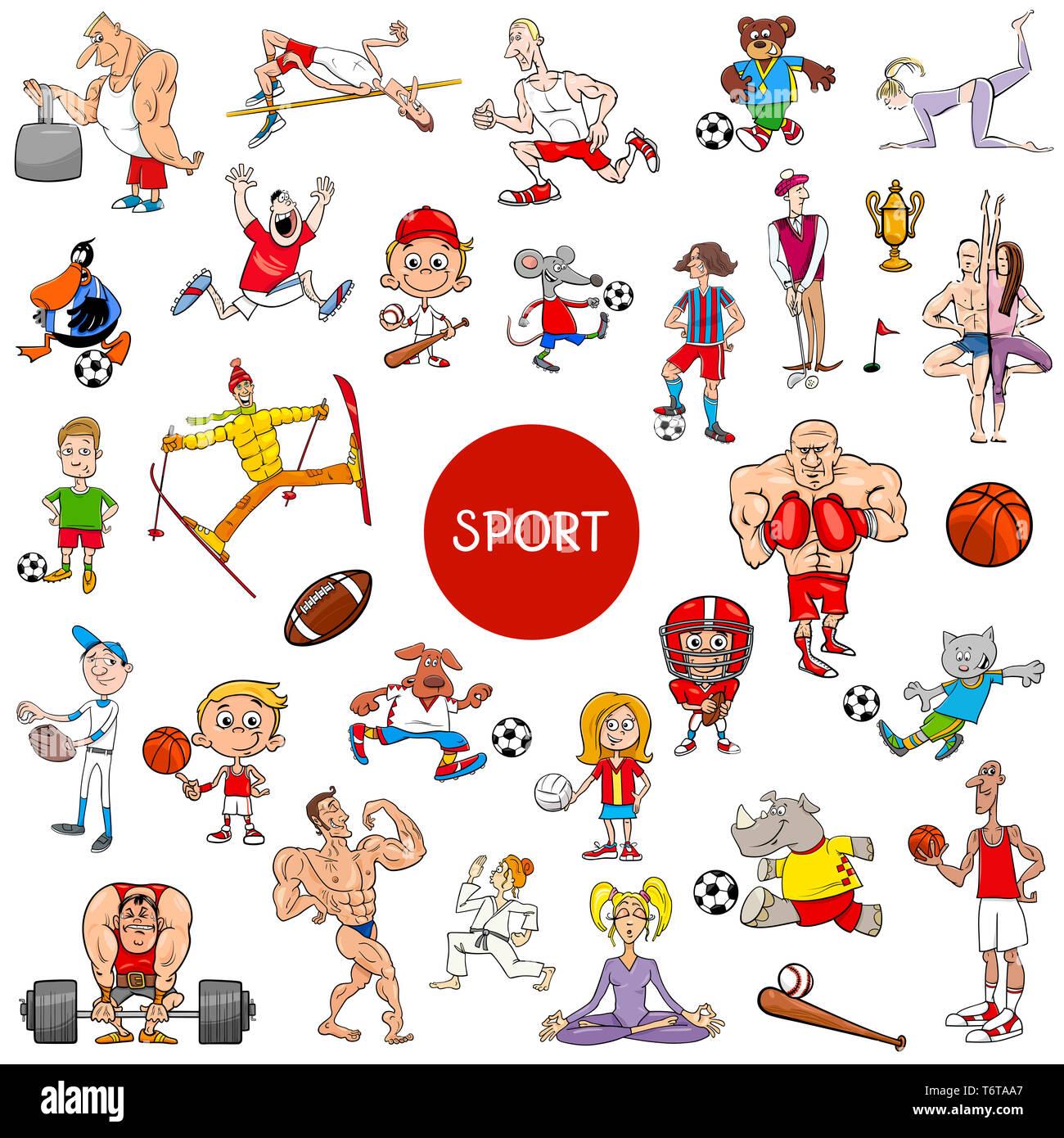 Sport Cartoon Stockfotos Und Bilder Kaufen Alamy
