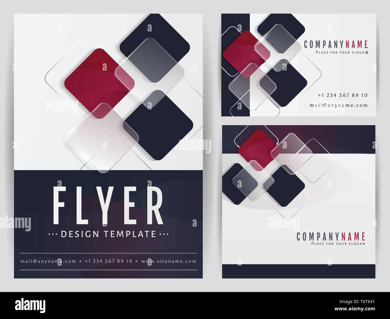 Satz Von Visual Corporate Identity Vorlagen Flyer