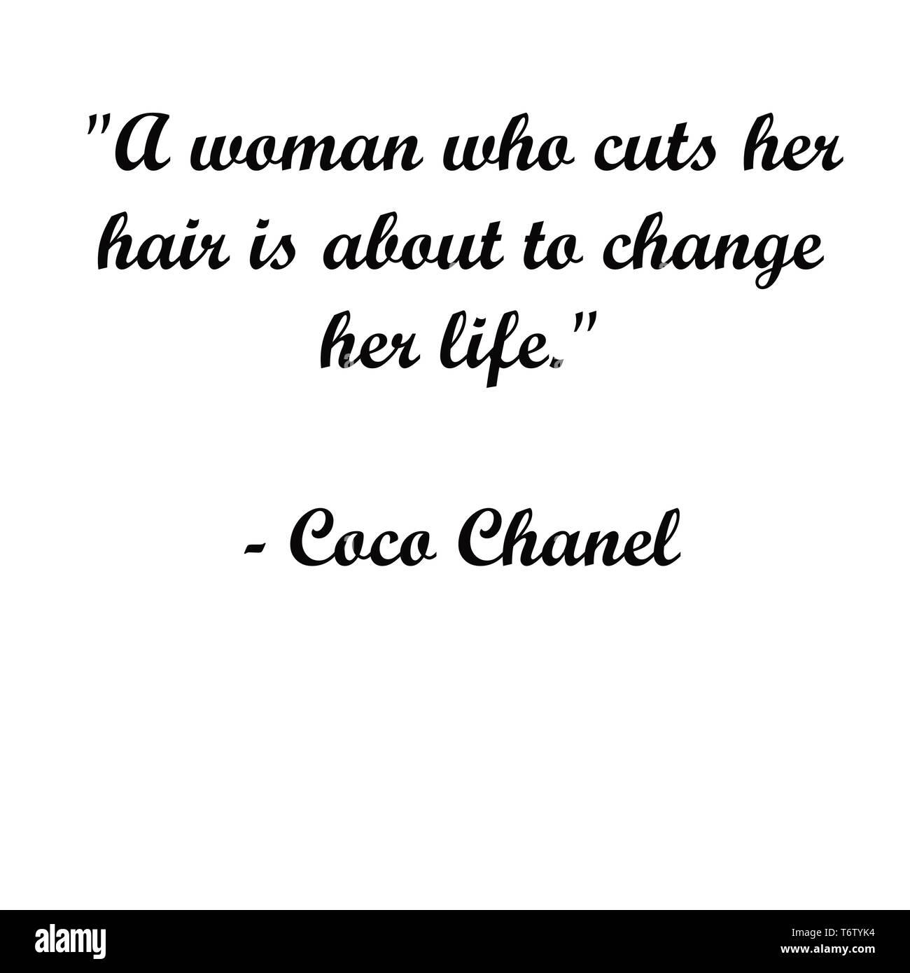Inspirational Coco Chanel Zitate Moderne Typografie Fur Kunstler