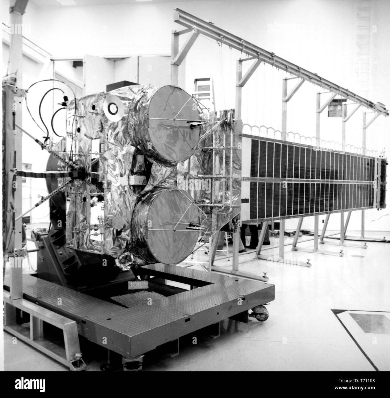 Die NASA-Kommunikationstechnologie Satelliten vorbereitet vom Kennedy Space Center, Florida, 16. Dezember 1975 zu starten. Mit freundlicher Genehmigung der Nationalen Luft- und Raumfahrtbehörde (NASA). () Stockfoto