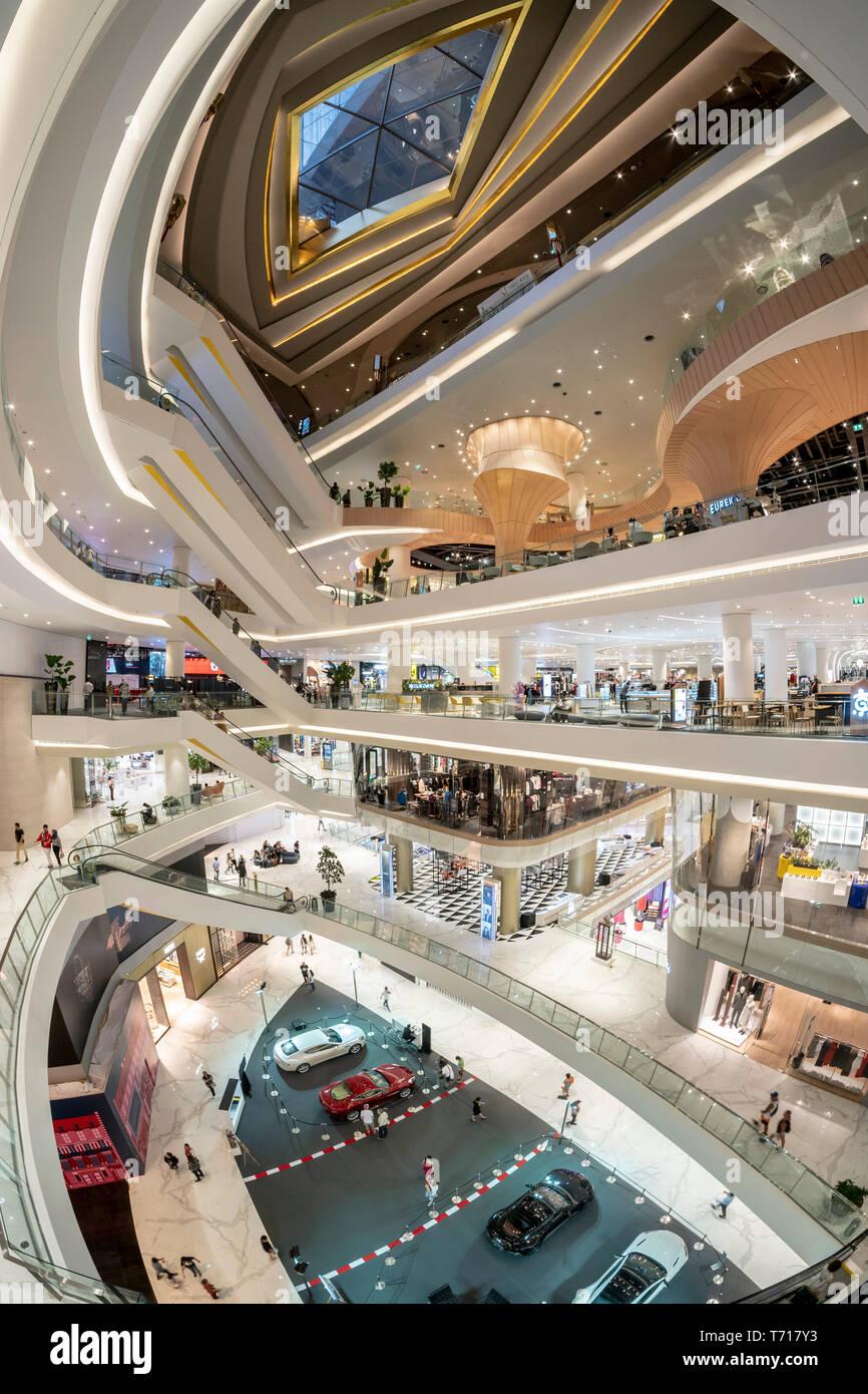 Interieur Symbol Siam Mall, Einkaufszentrum, Bangkok, Thailand Stockbild