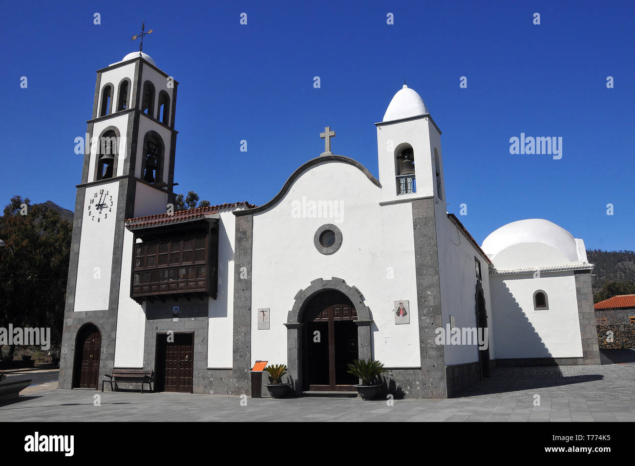 Kirche in Santiago del Teide, Teneriffa, Kanarische Inseln, Spanien Stockbild