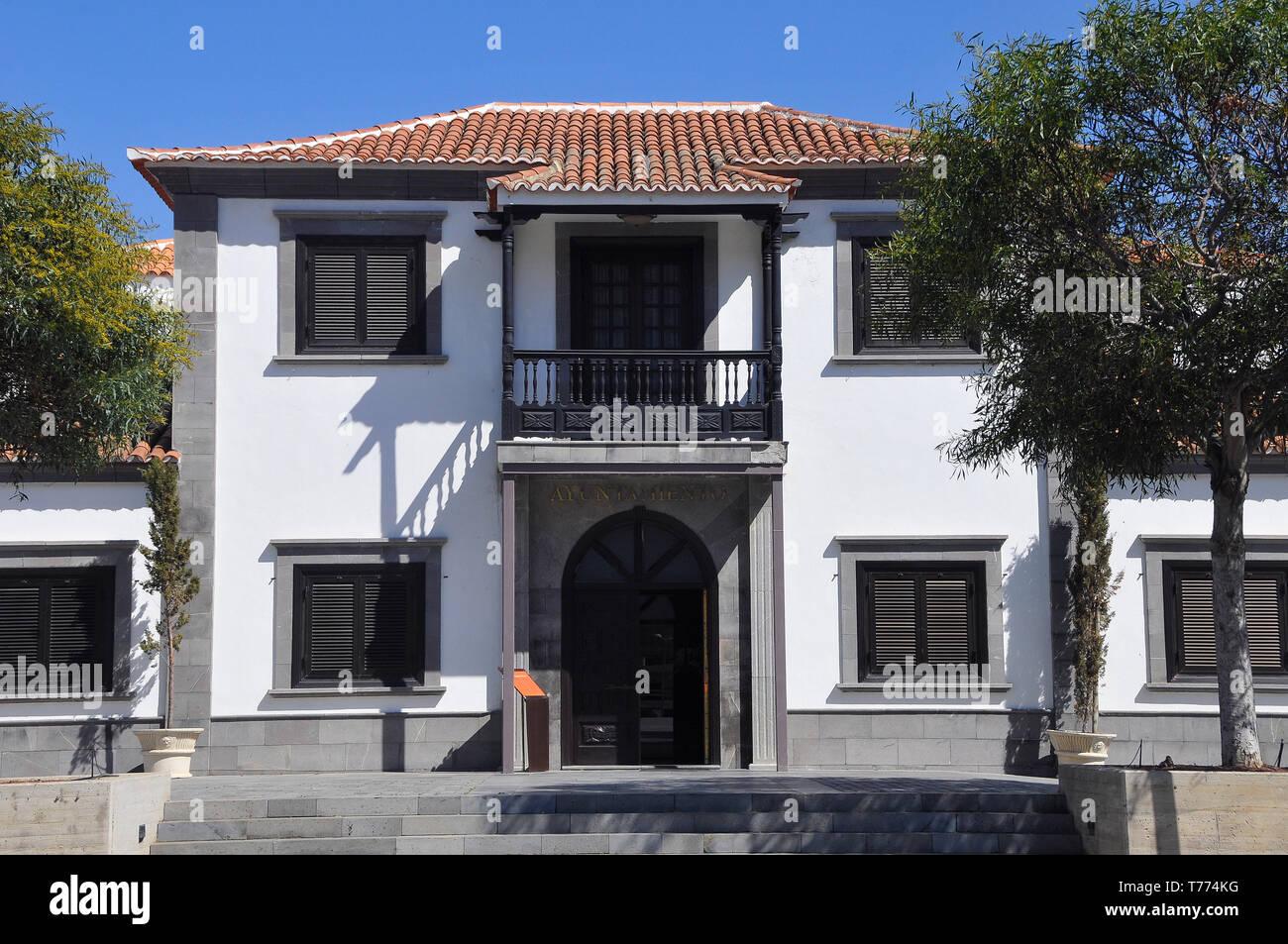 Haus in Santiago del Teide, Teneriffa, Kanarische Inseln, Spanien Stockbild