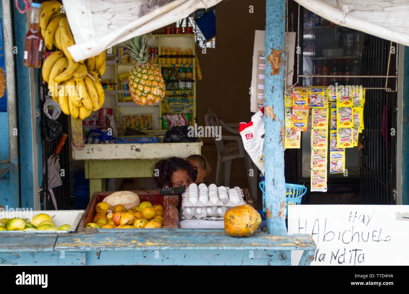 Shop in der Dominikanischen Republik Stockbild