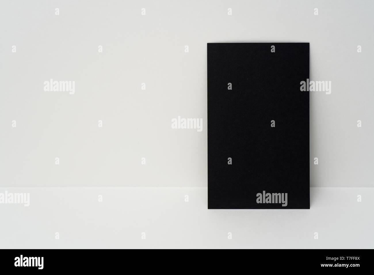 Designkonzept Blick Auf Vertikale Schwarze Visitenkarte