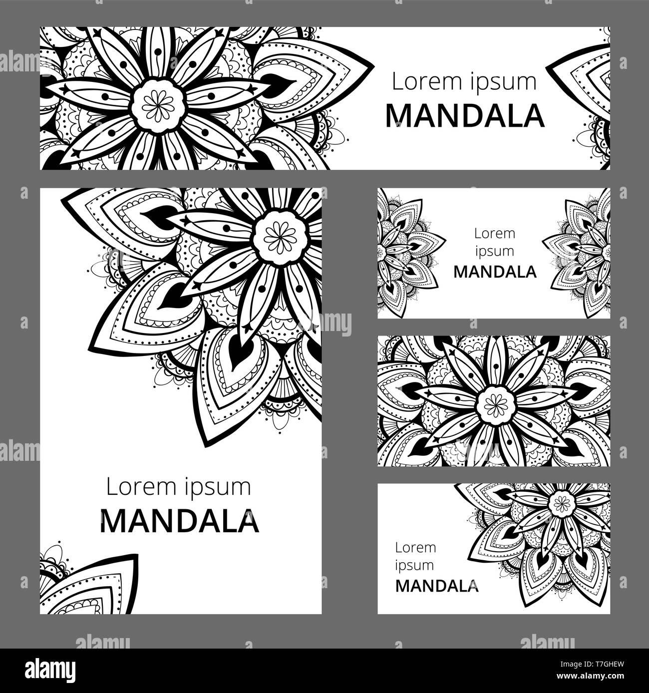 Mandala Muster Vorlage Für Visitenkarte Oder Booklet