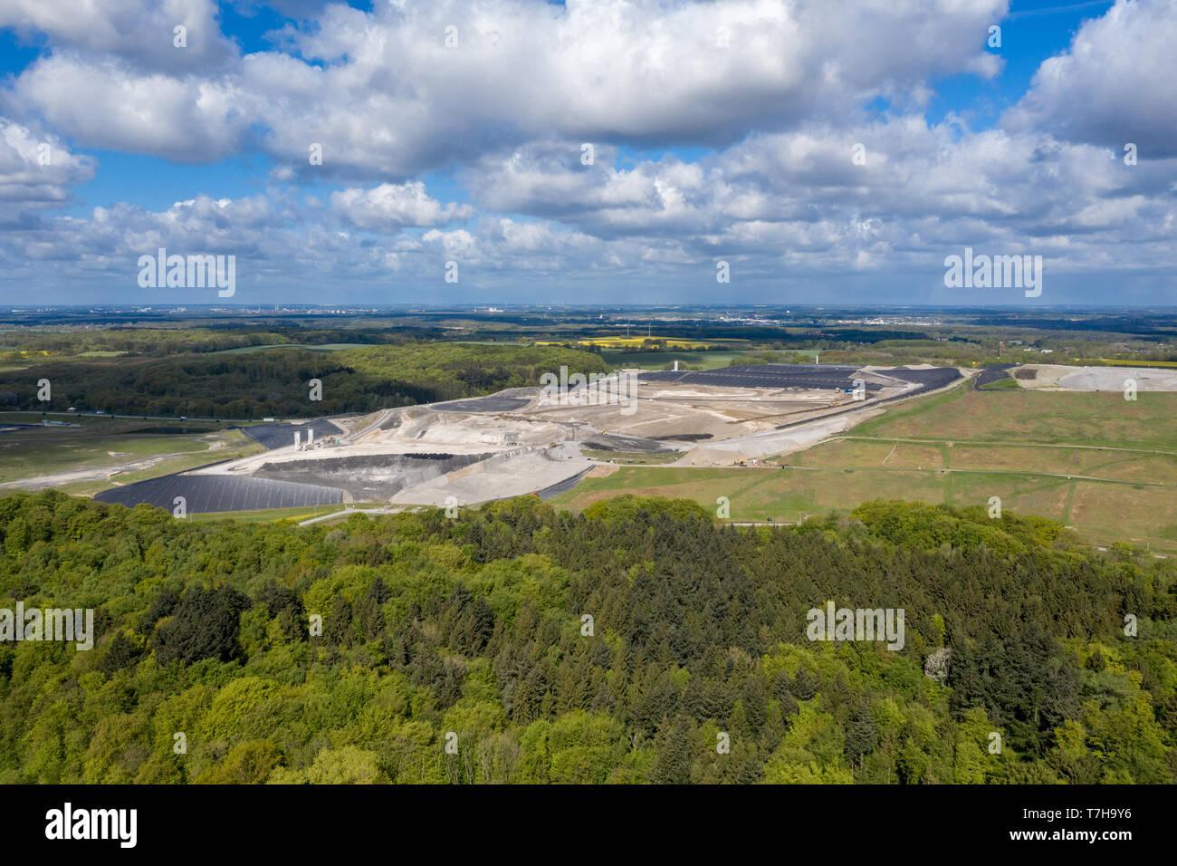 Europas größte giftige Abfälle Deponie Ihlenberg im Norden Deutschlands Stockfoto