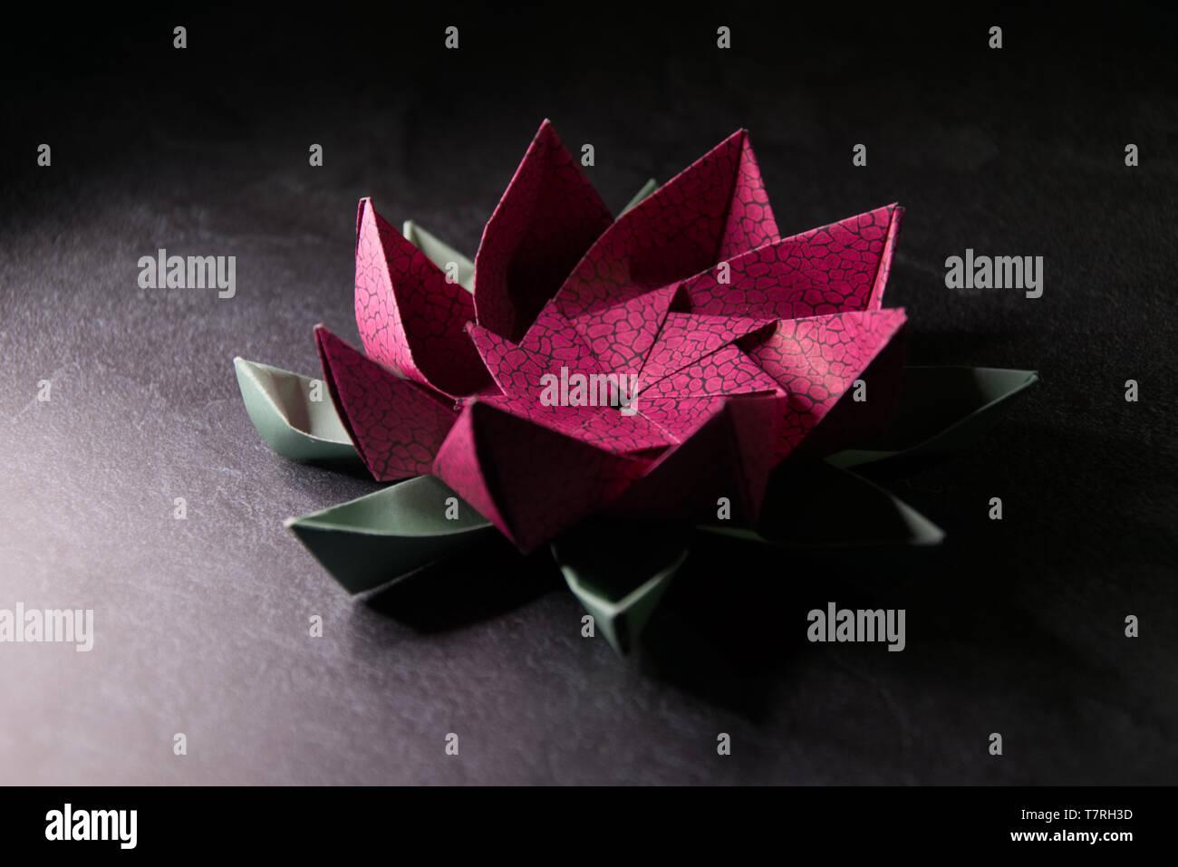 Origami 8 Petal Modular Lotus Flower - Paper Kawaii - YouTube | 957x1300