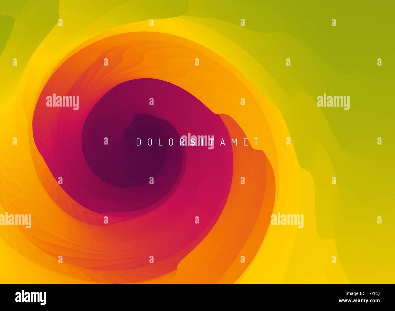 Zusammenfassung Hintergrund mit dynamischen Wirkung. Motion Vector Illustration. Trendy Gradienten. Rotation und wirbelnden Bewegung. Können für Werbezwecke verwendet werden, Ma Stockbild
