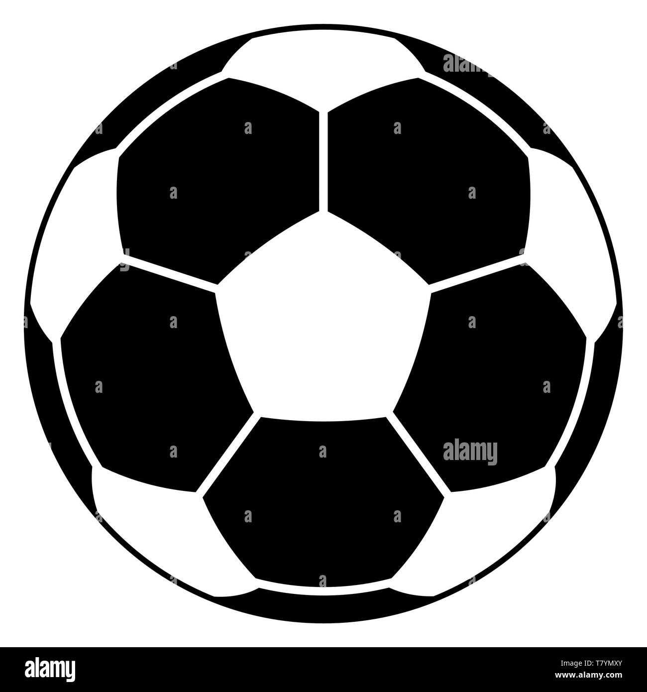 Abbildung Die Fussball Symbol Vektor Abbildung Bild