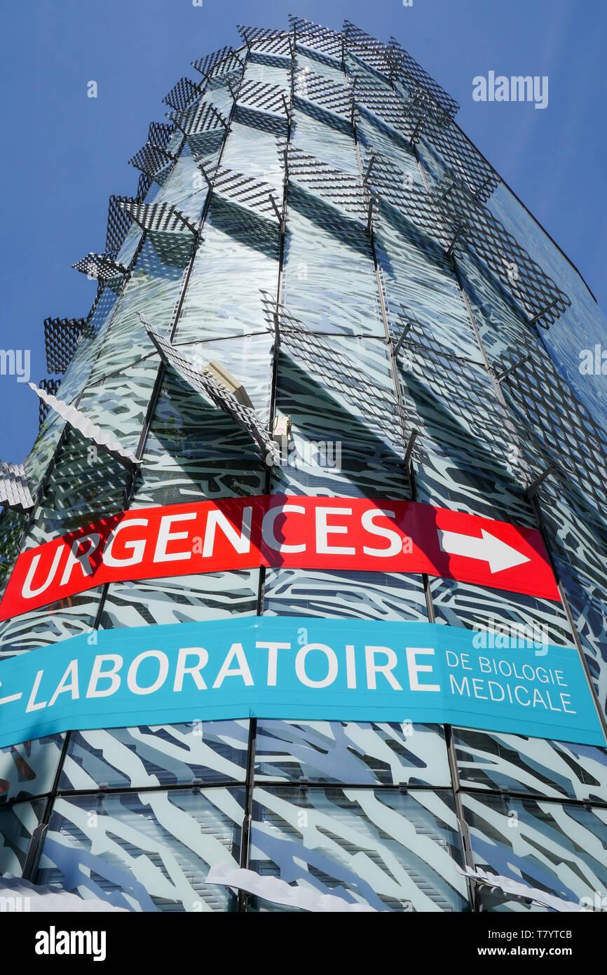 Medizinische Molekularbiologie, Privater Mermoz Krankenhaus, Lyon, Frankreich Stockbild