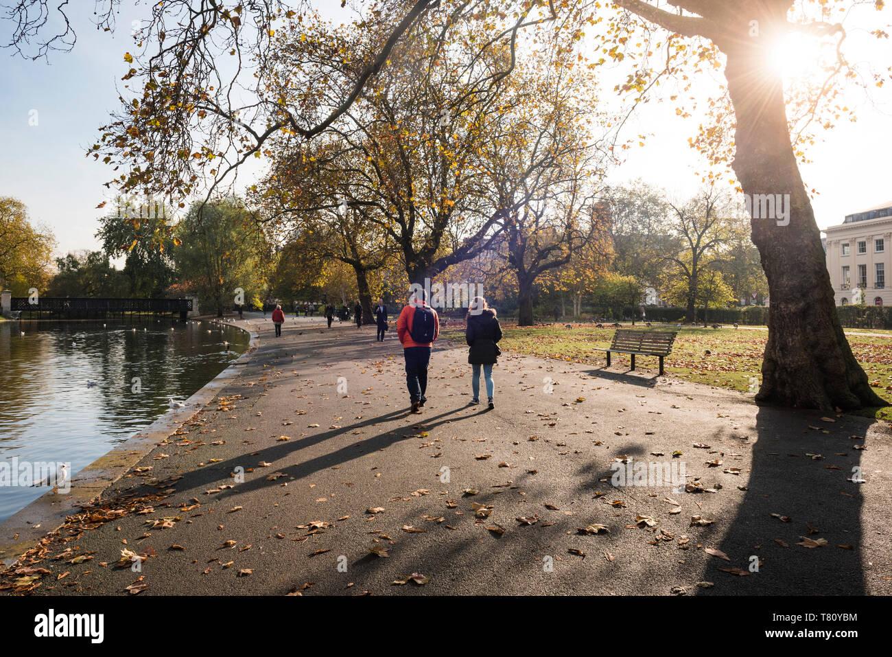 Herbst im Regents Park ist einer der königlichen Parks in London, England, Vereinigtes Königreich, Europa Stockbild