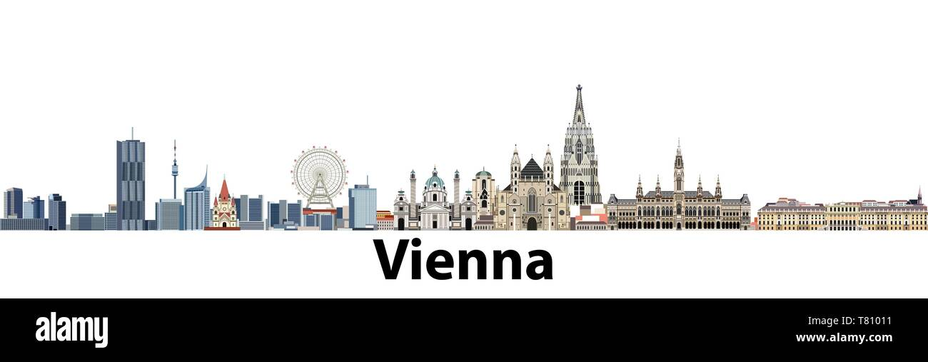 Wien vektor Skyline der Stadt. Stock Vektor