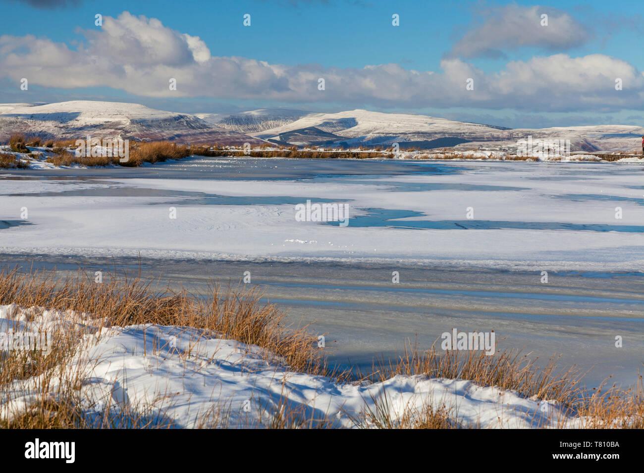 Tierpfleger Teich, Blaenavon, Brecon Beacons, South Wales, Großbritannien, Europa Stockfoto