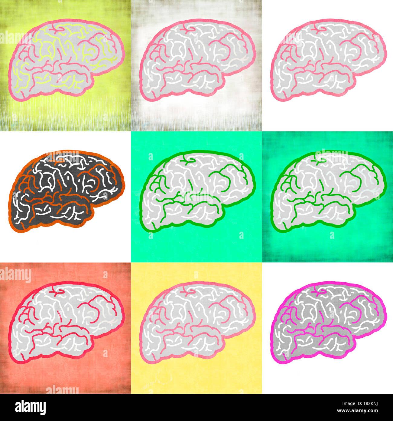 Symbol des Gehirns Stockbild