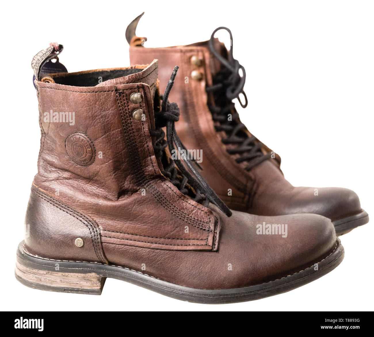 Boots Leather Boots Stockfotos & Boots Leather Boots Bilder