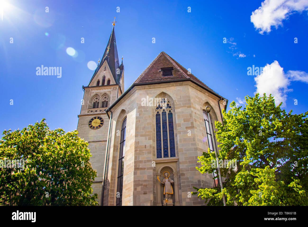 Mütter Tempel in der Stadt Konstanz auf dem See Constace, Bodensee. Die Stadt liegt in Deutschland und der Schweiz. Es ist blauer Himmel im Hintergrund. Th Stockbild