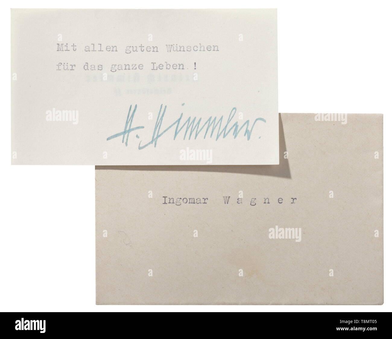 Reichsführer Ss Heinrich Himmler Eine Visitenkarte Mit