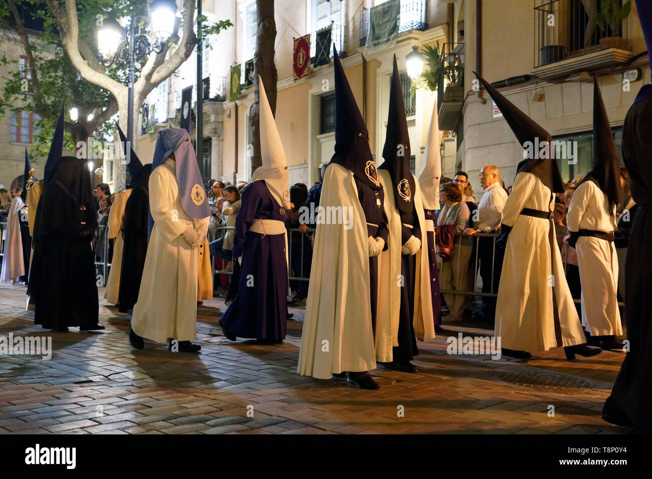 Spanien, Aragonien, Provinz Zaragoza, Zaragoza, der Semana Santa (Karwoche) feiern Stockfoto