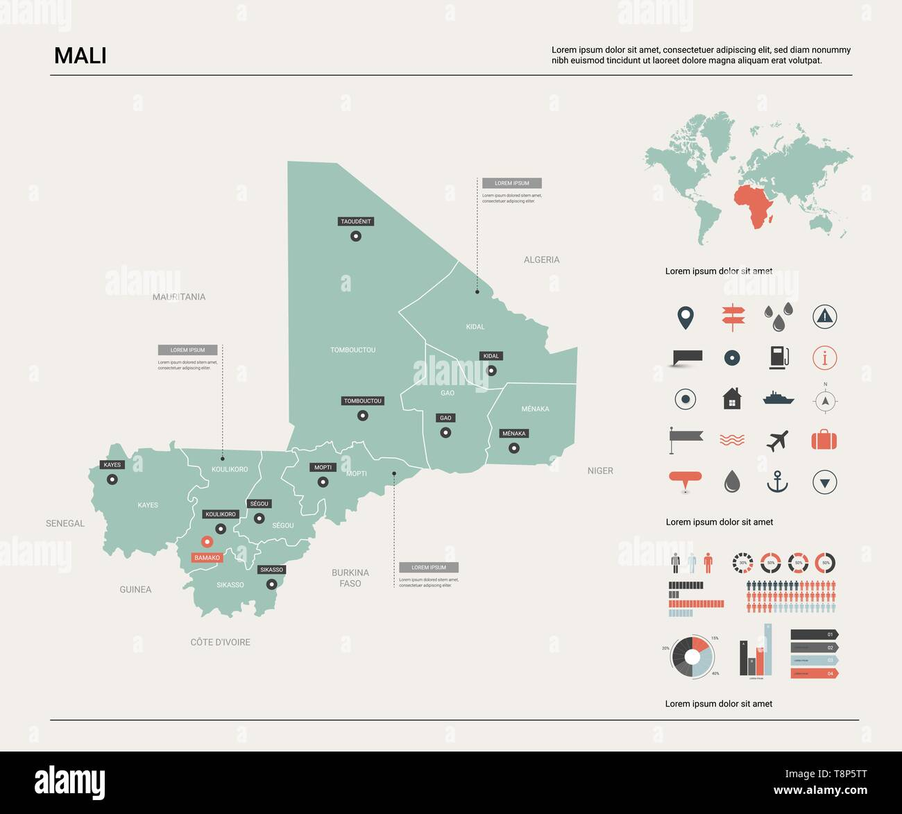 Mali Map Stockfotos & Mali Map Bilder - Seite 3 - Alamy