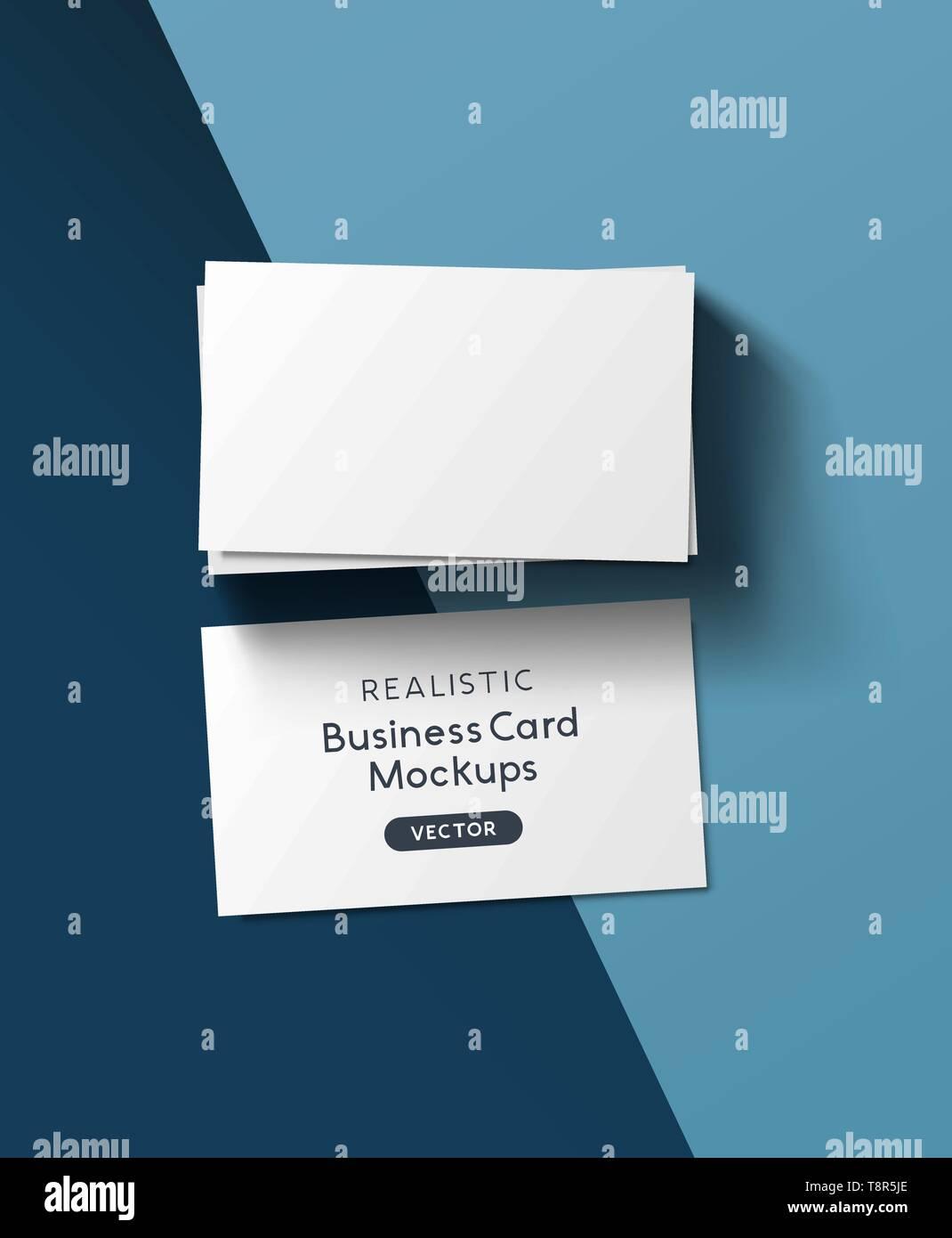 Ein Stapel Von Visitenkarten Realistische Branding Mockup