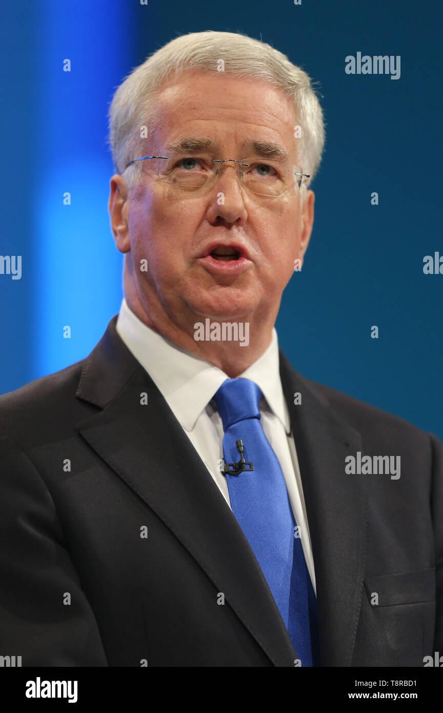 MICHAEL FALLON MP, 2017 Stockbild