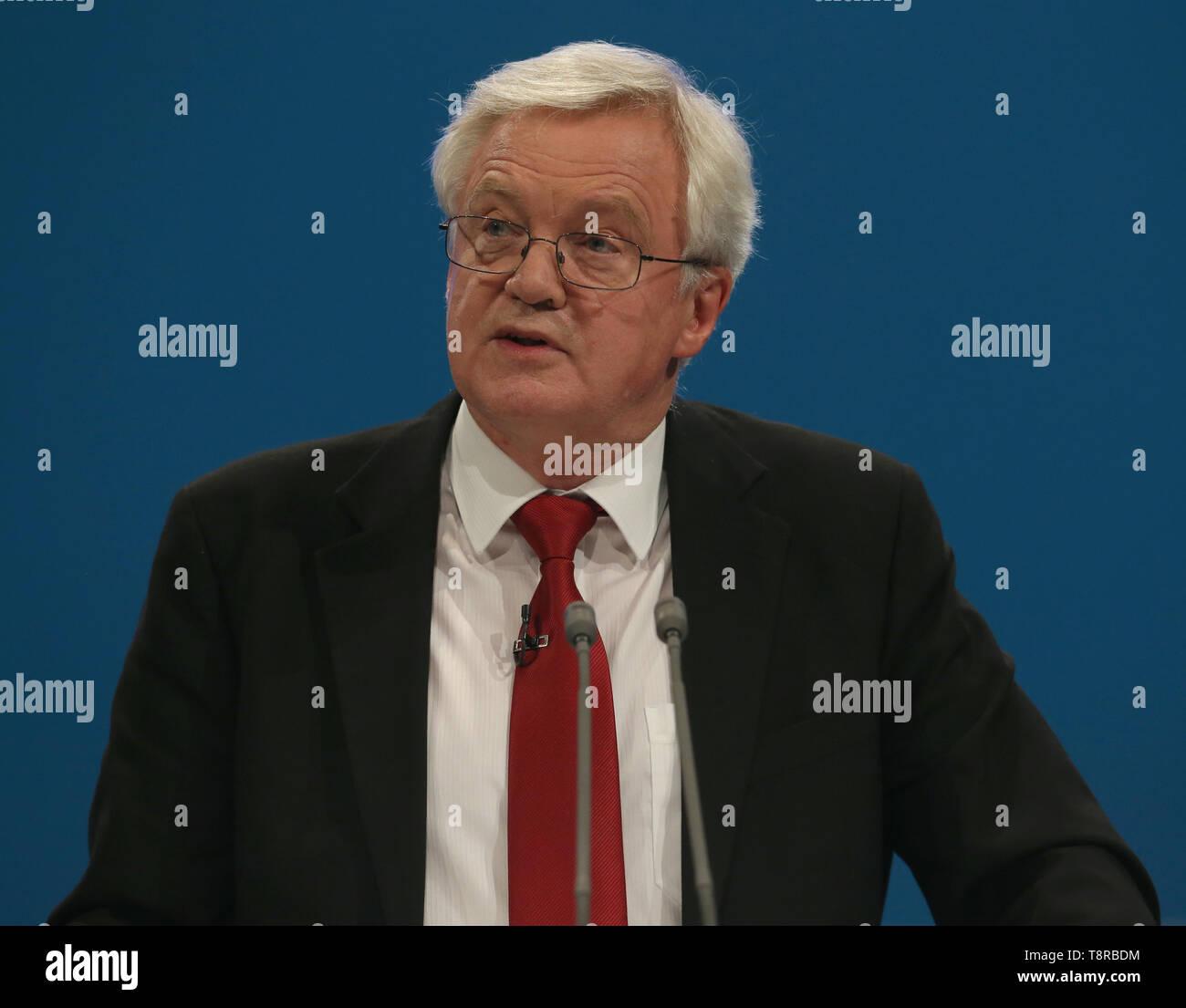 DAVID DAVIS MP, 2017 Stockbild