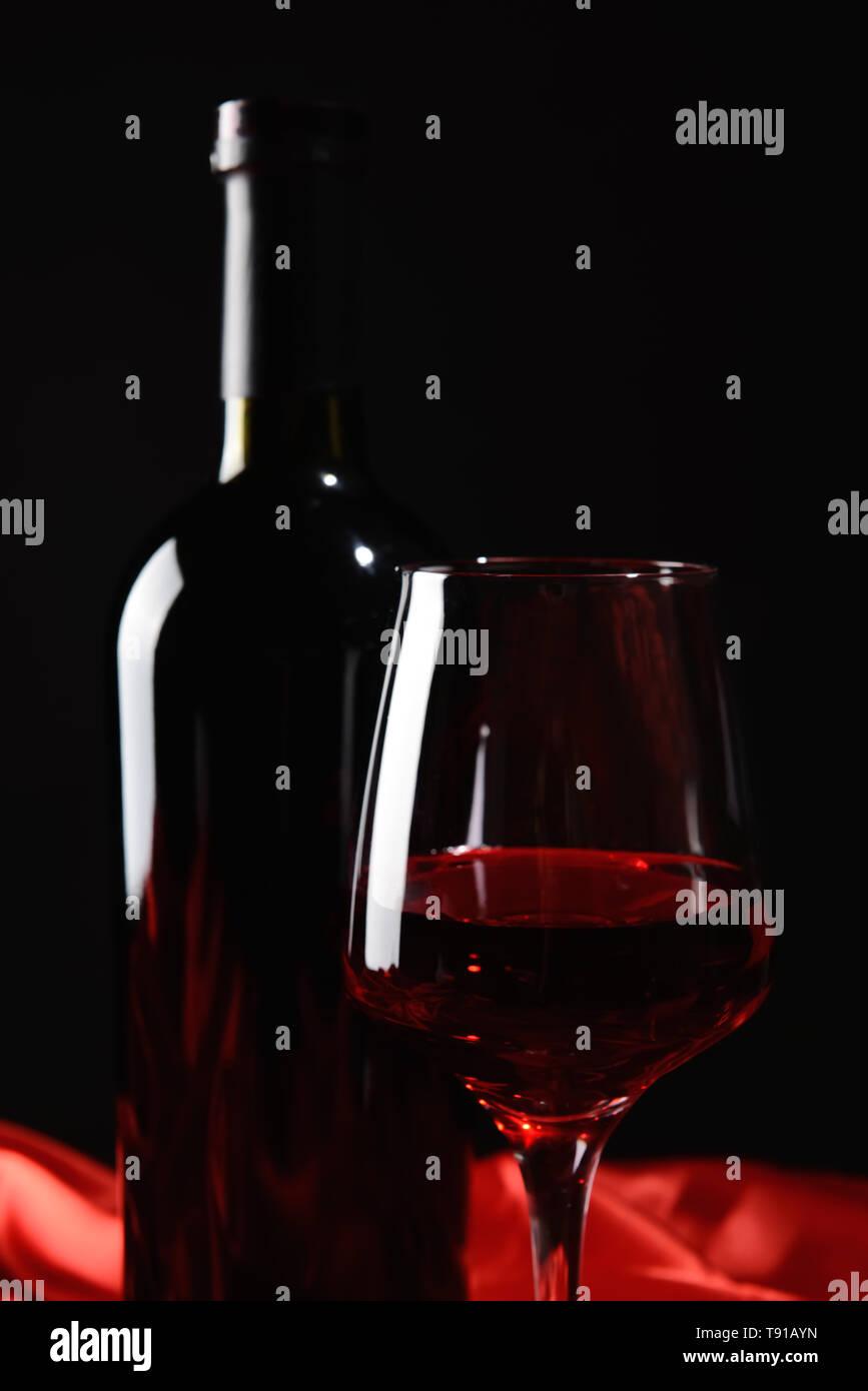 Wine Glass On Silk Stockfotos Wine Glass On Silk Bilder Alamy