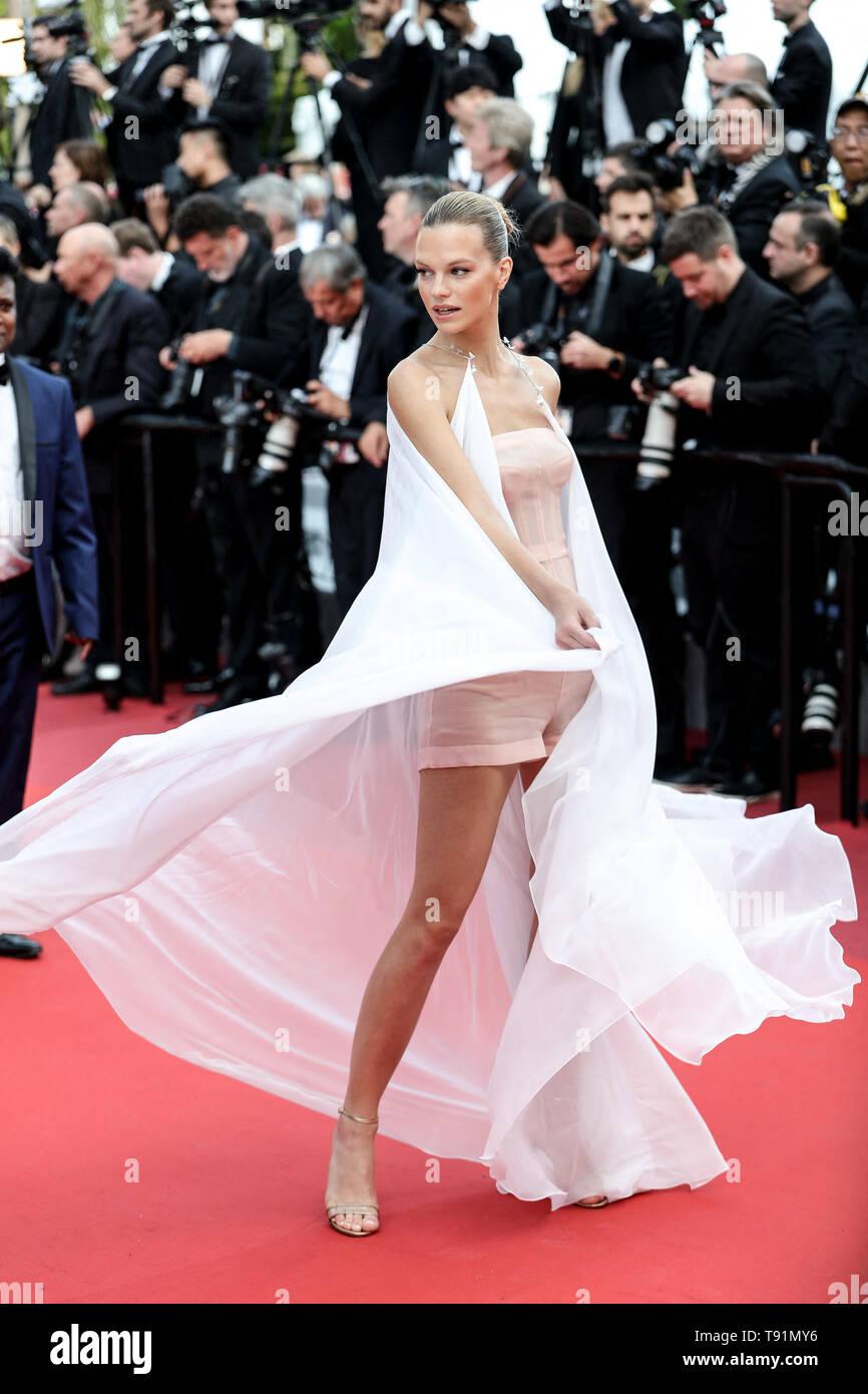 """Cannes, Frankreich. 15 Mai, 2019. CANNES - 15. Mai: Nadine Leopold kommt zur Premiere von """"Les Misérables"""" während der 2019 Cannes Film Festival am 15. Mai 2019 im Palais des Festivals in Cannes, Frankreich. (Foto durch Lyvans Boolaky/imageSPACE) Credit: Imagespace/Alamy leben Nachrichten Stockfoto"""