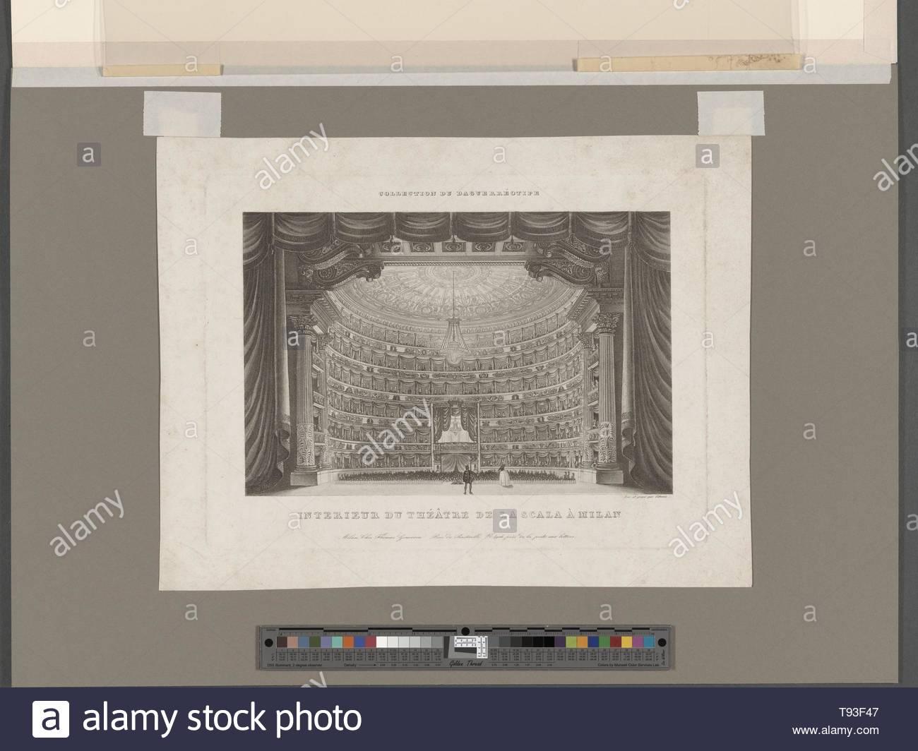 Anonymous-Intérieur du Théatre de La Scala à Milan Stockbild