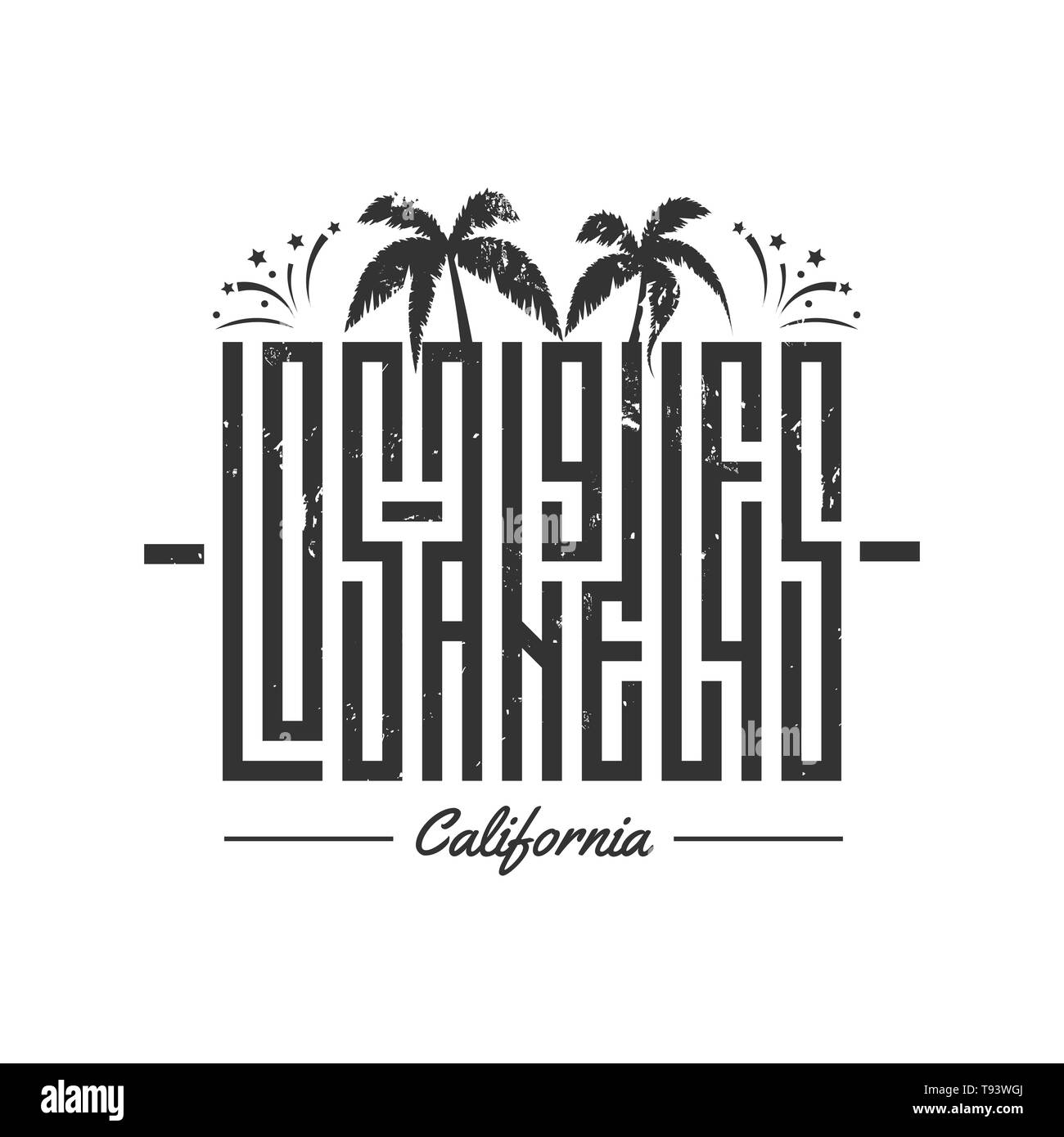 Brilliant Los Angeles Vektor Schriftzug Fur Karte T Print Design Home Interior And Landscaping Eliaenasavecom