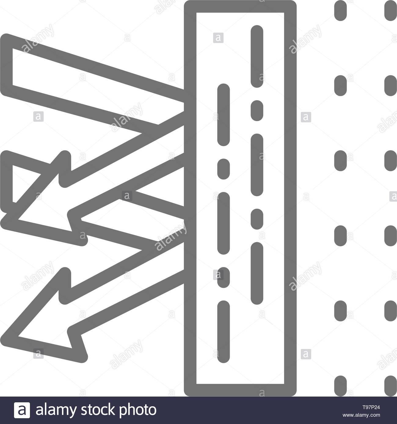 Wasser- und winddicht Oberfläche, isolierte Wand, Energieeinsparung Symbol Leitung. Stockbild