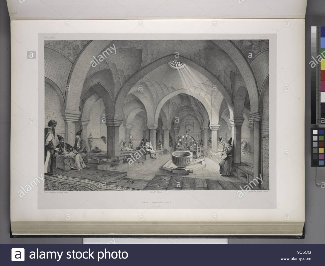 Flandin, Eugène (1809-1876) - Bain Khosrou-Aga [Intérieur], Ispahan Stockbild