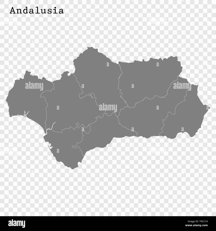 Karte Von Andalusien Spanien.Hohe Qualität Karte Von Andalusien Ist Ein Zustand Von Spanien Mit