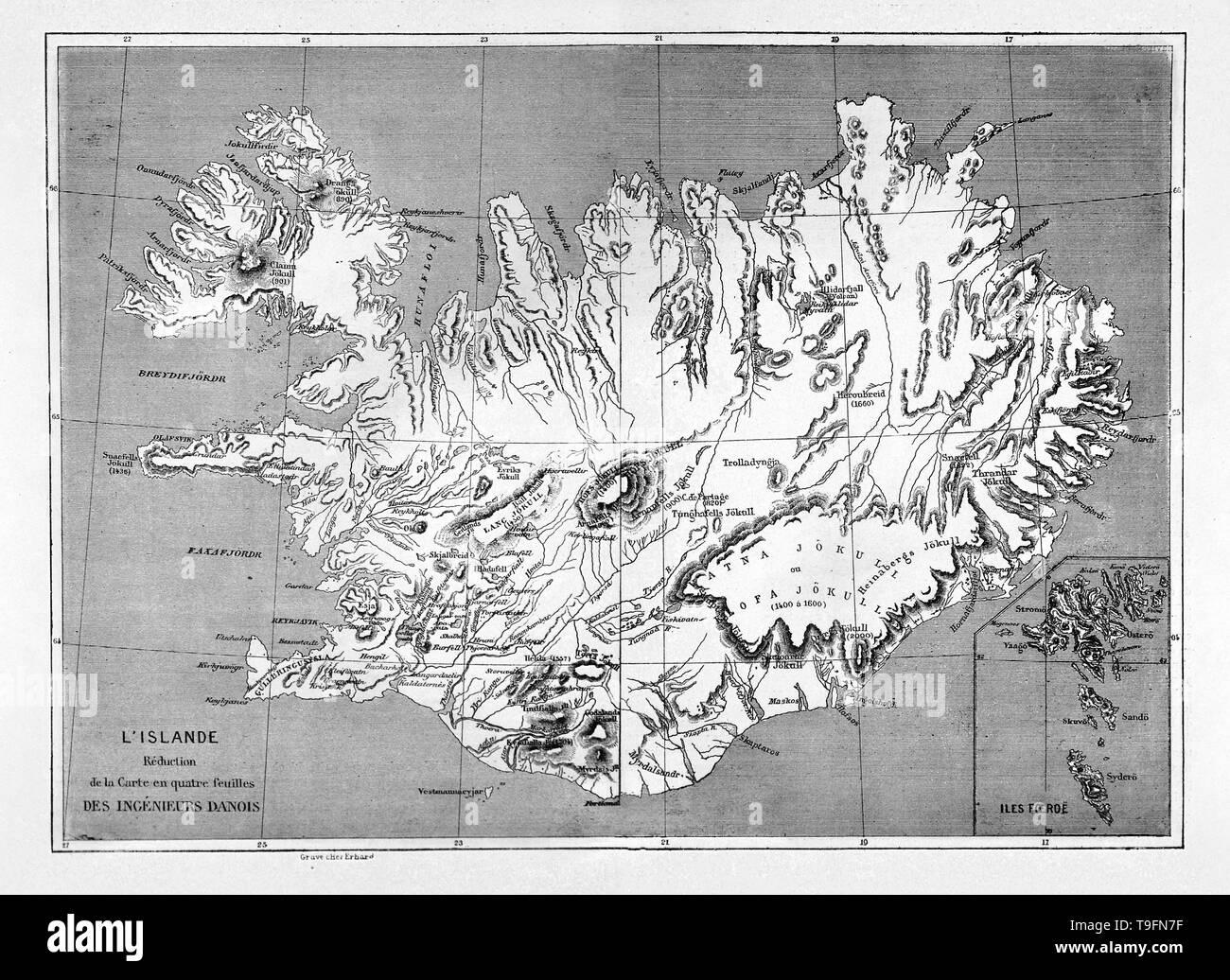 Karte Island Drucken.Antike Karte Von Island Stockfotos Antike Karte Von Island