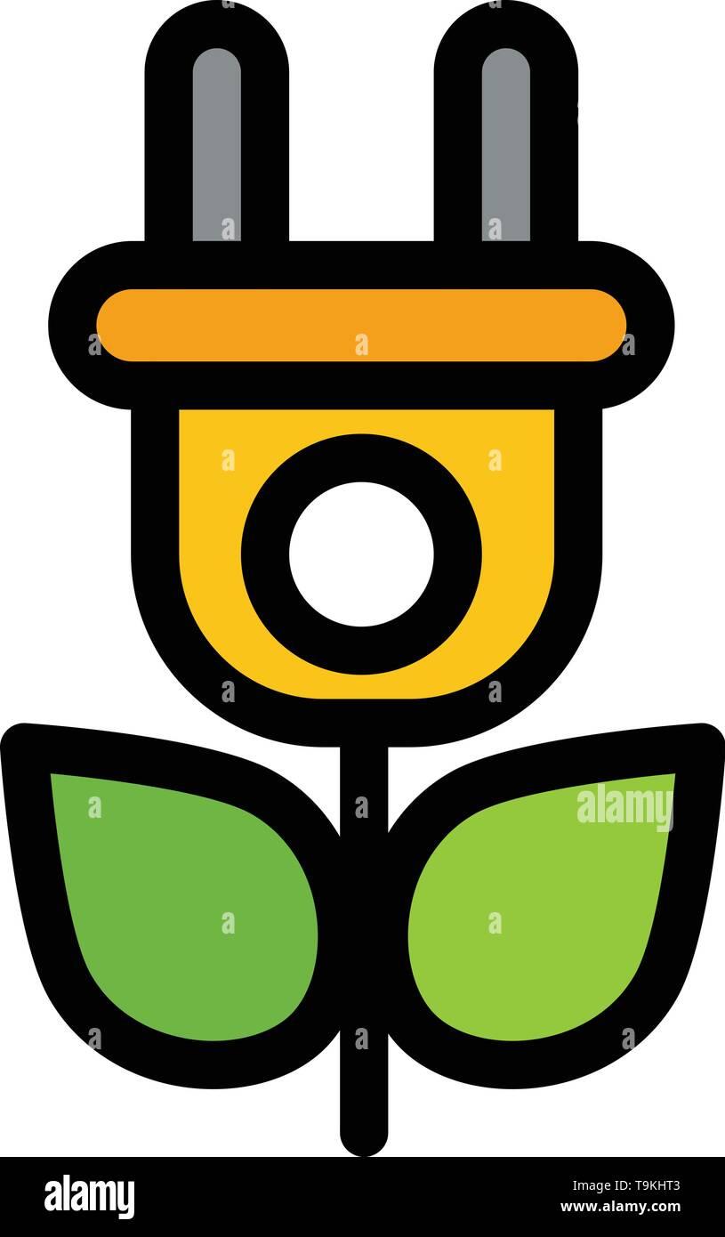 Eco, Strom, Natur flachen Farbe Symbol. Vektor icon banner Vorlage Stockbild