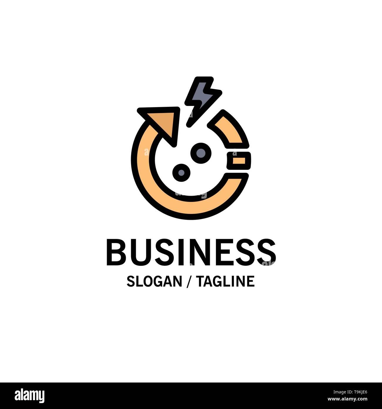 Pfeil, Energie, Sparen, World Business Logo Vorlage. Flachen Farbe Stockbild