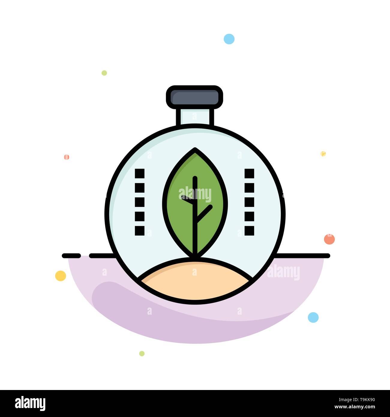 Grün, Innovation, Energie, Power Abstrakte flachen Farbe Symbol Vorlage Stockbild