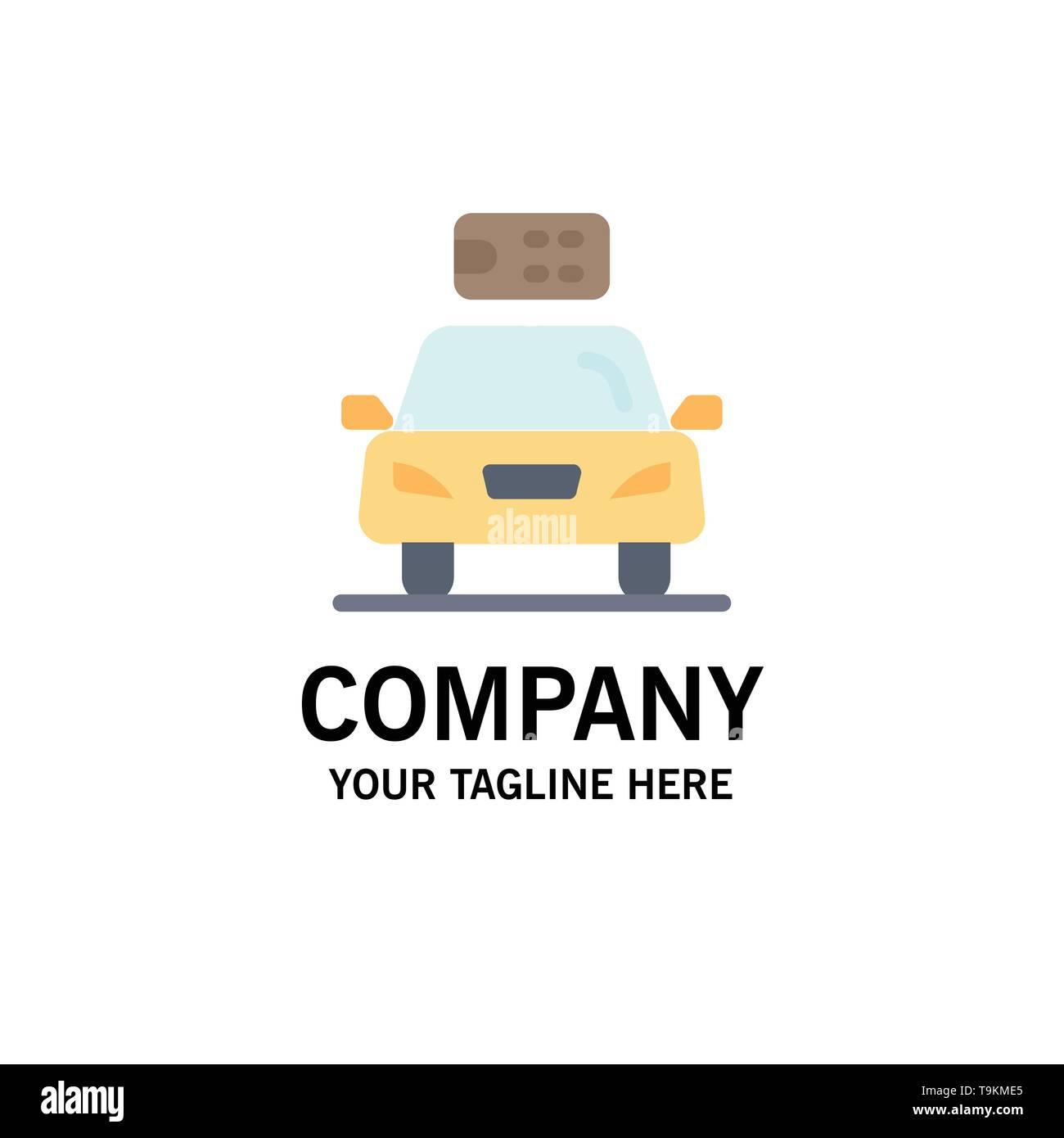 Auto, Ökologie, Strom, Energie, Power Business Logo Vorlage. Flachen Farbe Stockbild