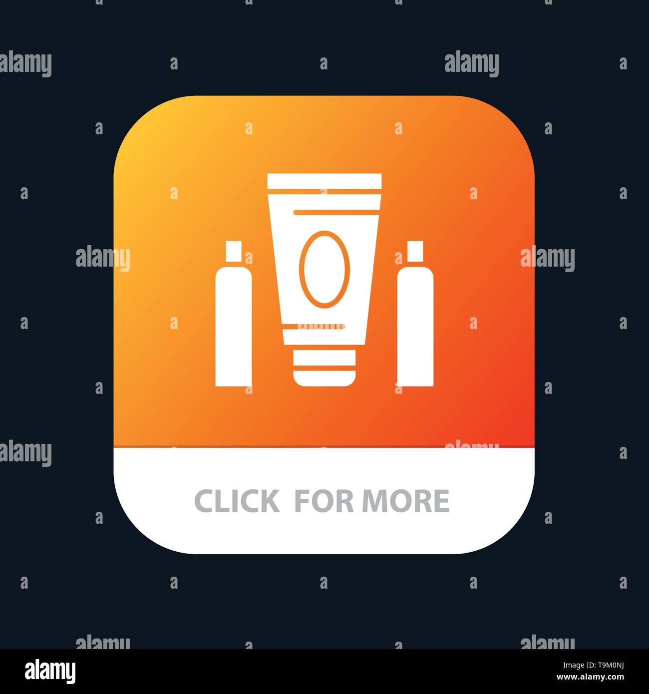 "Sport, Creme, Medical, Healthcare Mobile App"". Android- und IOS-Glyphe Version Stockbild"