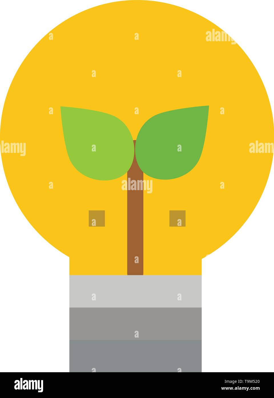 Eco, Idee, lampe, Licht flach Farbe Symbol. Vektor icon banner Vorlage Stockbild