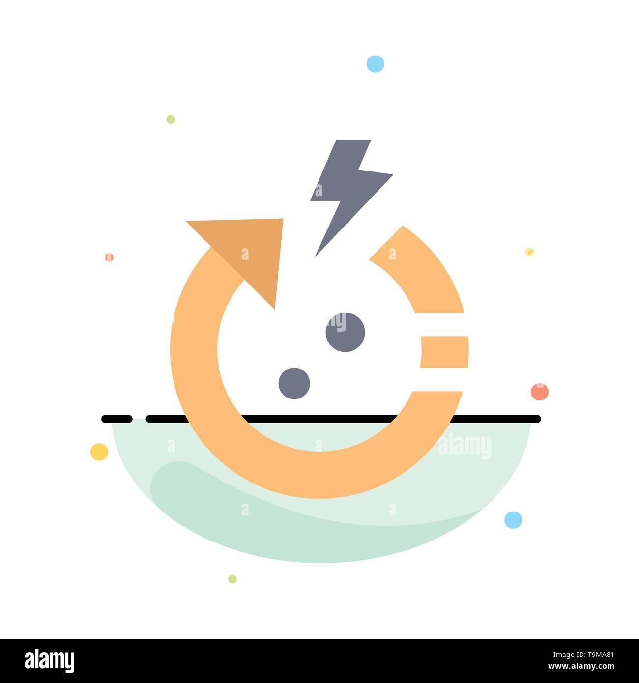 Pfeil, Energie, Sparen, Welt Abstract flachen Farbe Symbol Vorlage Stockbild