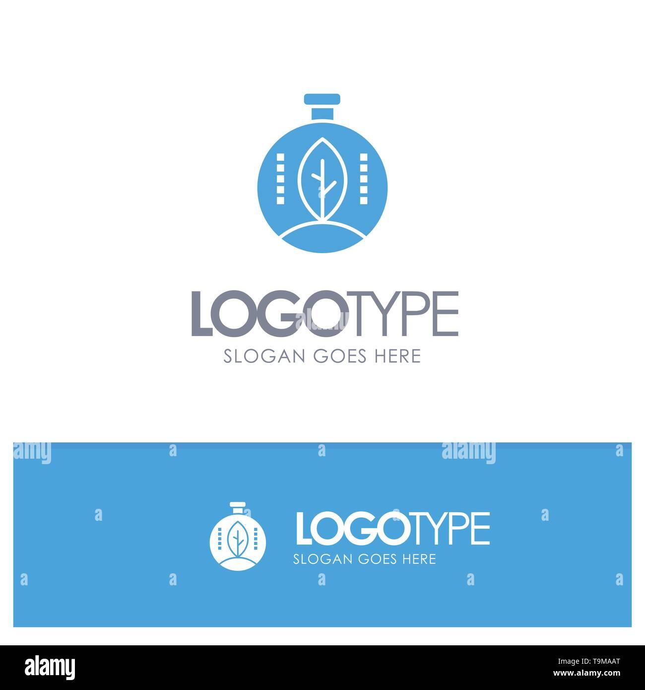 Grün, Innovation, Energie, Power Blue Solid Logo mit Slogan Stockbild